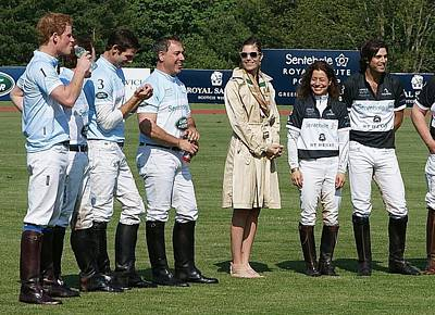 Photograph - Prince Harry Delfina Belquier And Nacho Figueras by Russ Considine