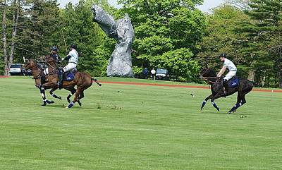 Photograph - Prince Harry Polo Action by Russ Considine