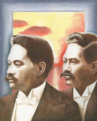Painting - Prince Jonah And David Kuhio by Alan Fine