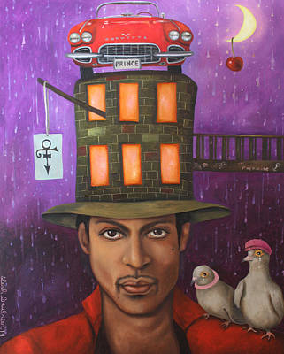 Rain Hat Painting - Prince by Leah Saulnier The Painting Maniac