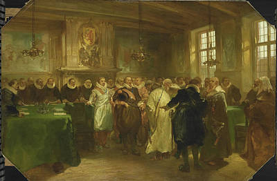 Prince Maurits Of Orange Receives A Delegation From Russia Art Print by Litz Collection