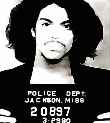 Jail Mixed Media - Prince Mug Shot by Dan Sproul