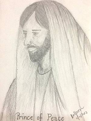 Drawing - Prince Of Peace by Kat Poon
