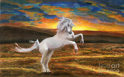 Spirit Horse Painting - Prince Of The Fiery Plains by Peter Piatt