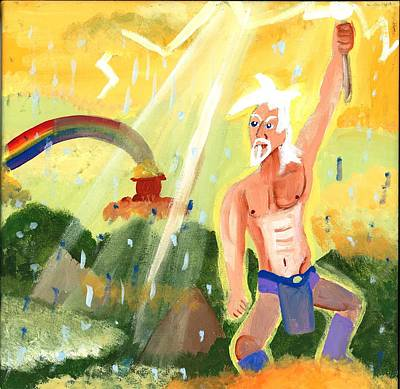 Thunder Painting - Prince Of Thunder by Artists With Autism Inc