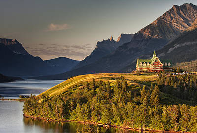 Canadian Rockies Photograph - Prince Of Wales Sunrise by Mark Kiver