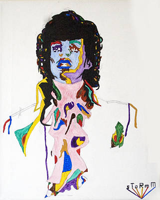 Print featuring the painting Prince Purple Reign by Stormm Bradshaw