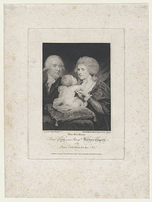 Stippling Drawing - Prince Serge And Princess Barbara by after Sir Joshua Reynolds