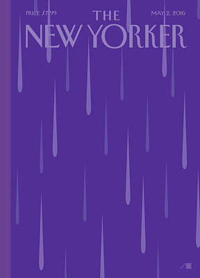 Death Wall Art - Painting - Purple Rain by Bob Staake