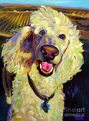 Princely Poodle Art Print by Robert Phelps