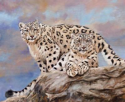 Princes Of The Peaks Art Print by David Stribbling