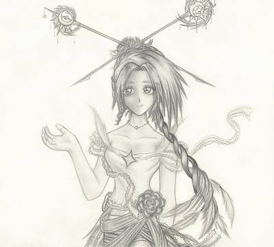 Drawing - Princess Altiana by Shawn Dall