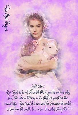 Aset Digital Art - Princess And The Lamb IIi by Elsa Aset Rigoni