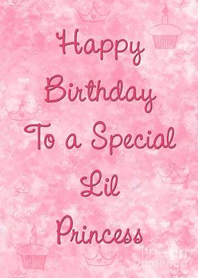 Digital Art - Princess Birthday by JH Designs