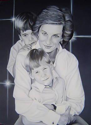 Princess Diana And The Boys. Original