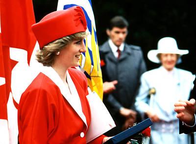 Photograph - Princess Diana Laughter by Robert  Rodvik