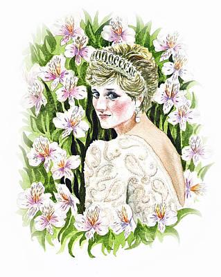 Lilies Royalty-Free and Rights-Managed Images - Princess Diana by Irina Sztukowski
