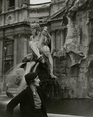 Photograph - Princess Eugenio Ruspoli In Rome by George Hoyningen-Huene