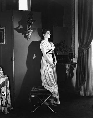 Photograph - Princess Jean-charles De Ligne Wearing An Evening by Horst P. Horst
