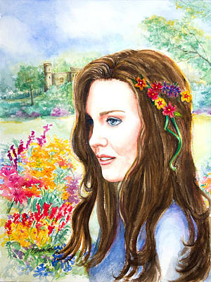 Middleton Painting - Princess Kate by Patricia Allingham Carlson