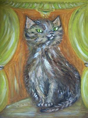Art Print featuring the painting Princess Kitty by Teresa White