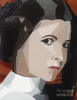 Star Alliance Painting - Princess Leia by Ellen Nicole Allen