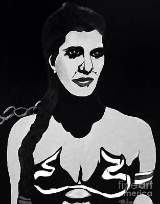 Painting - Princess Leia In Black And White by Saundra Myles