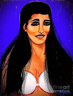 Painting - Princess Leia So Beautiful by Saundra Myles
