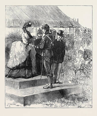 Princess Louise Presenting The Prizes At Wimbledon 1871 Print by English School