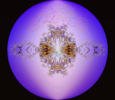 Digital Art - Princess Magic Fractal by Maria Urso