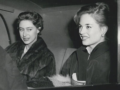 Princess Margaret At The Theatre Art Print by Retro Images Archive