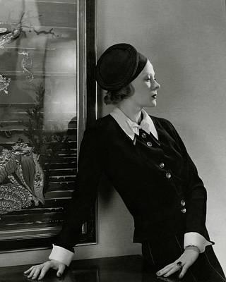 Photograph - Princess Natalia Paley Wearing A Lucien Lelong by Edward Steichen