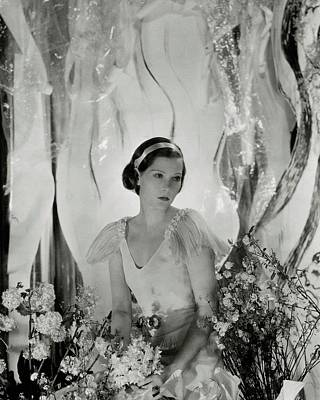 1930s Fashion Photograph - Princess Natalia Paley With Flowers by George Hoyningen-Huene