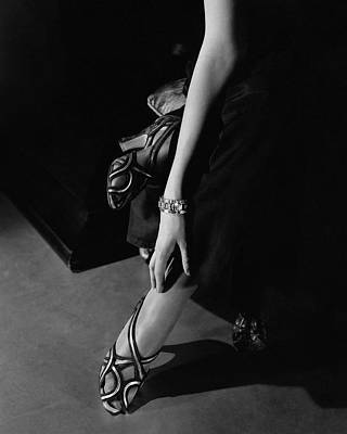 Black And White Photograph - Princess Nathalie Paley Wearing Shoecraft Sandals by Edward Steichen