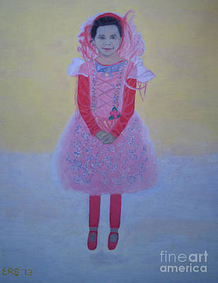 Painting - Princess Needs Pink New Hair by Elizabeth Stedman