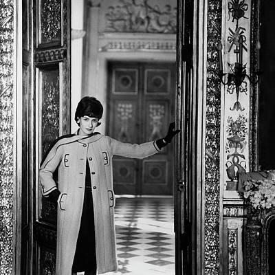 Photograph - Princess Odile De Croy Wearing A Chanel Coat by Henry Clarke