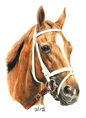 Thoroughbred Horse Painting - Princess Of Sylmar by Pat DeLong