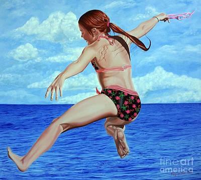 Painting - Princess Of The Ocean - Princesa Del Oceano by Rezzan Erguvan-Onal