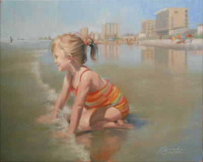 Myrtle Beach Painting - Princess Of Tides by Todd Baxter