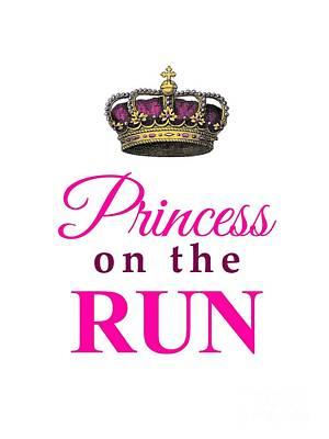 Jogging Mixed Media - Princess On The Run by Li Or