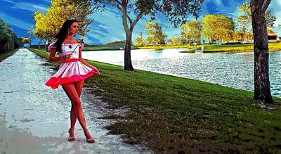 Fort Pierce Digital Art - Princess Out For A Walk by Richard Hemingway