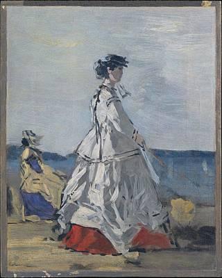 Cardboard Painting - Princess Pauline Metternich 1836-1921 by Eug�ne Boudin
