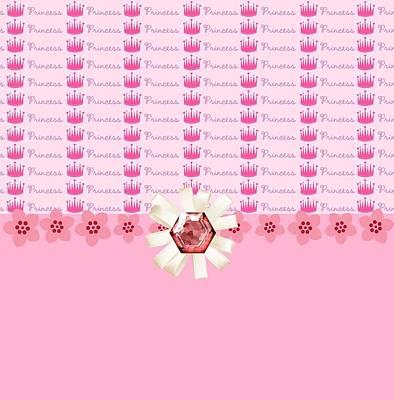 Shower Digital Art - Princess Pink Crowns by Debra  Miller