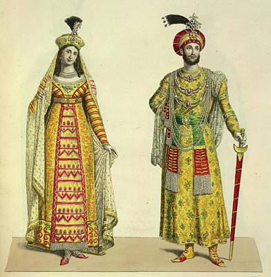 Princess Roschinara And Aurengzeb Art Print