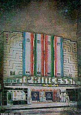 Painting - Princess Theatre In Harriman Tn 1939 by Dwight Goss