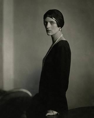 1920s Fashion Photograph - Princess Youssoupoff Wearing A Turban by Edward Steichen