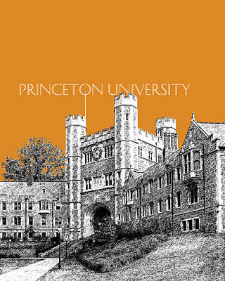 Dorm Room Decor Digital Art - Princeton University - Dark Orange by DB Artist