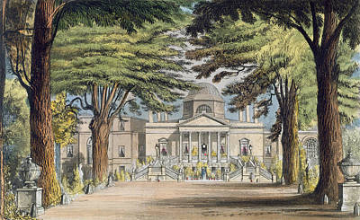 Avenue Drawing - Principal Front Of Chiswick House by John Gendall