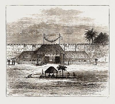 Ghana Drawing - Principal Gate Or Mgenda Of The Royal Palace At Coomassie by Litz Collection