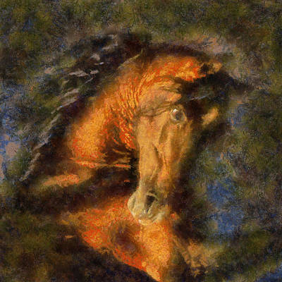 Art Print featuring the painting Prins Of Horses by Georgi Dimitrov